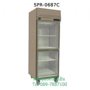 ตู้แช่สแตนเลส 2 ประตูแบบกระจก รุ่น SPR-0687C