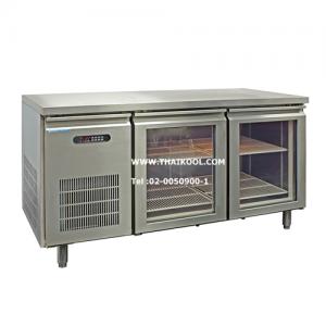 ตู้นอนแช่เย็นสแตนเลสเกรด 304 บานกระจก รุ่น YPC-150GR