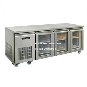 ตู้นอนแช่เย็นสแตนเลสเกรด 304 บานกระจก รุ่น YPC-180GR